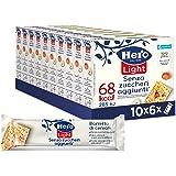 Hero Light Barrette ai Cereali e Nocciole, Senza Olio di Palma, Zero Conservanti, Coloranti, Zuccheri Aggiunti, 10 Confezioni
