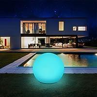 Solarlampen für außen, infray Solarleuchten für außen, Solar Gartenleuchten 30cm Solarkugel mit 9 Modi Leuchte, IP67…