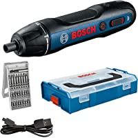 Bosch Professional Avvitatore a Batteria Bosch Go, Inclussi Set di Punte 25 Pezzi, Cavo di Ricarica Usb, L-Boxx Mini…