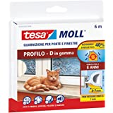 Tesa 05393-00110-00 Rubber afdichting voor deuren en ramen, profiel D, wit