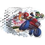 VAINECHAY Super Mario Muurstickers Kids Slaapkamer Art Muursticker Sticker Jongens Slaapkamers 3D Behang voor Kwekerij Baby J
