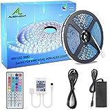 ALED LIGHT 10M 5050 RGB 600 LED Luces de Tira Cambiantes de Color con 44K Mando a Distancia IR + Adaptador de Corriente de 24
