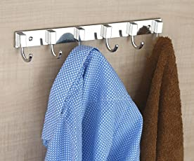 Hooks for Wall/Hooks for Hanging Clothes/Hooks for Hanging/Hooks for Kitchen/Hooks for Bathroom/Hooks for Hanging Bags 6 pin