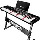 TERENCE Piano Numerique avec 61 Touches semi-lestées Touches Lumineuses Batterie Intégré de 1800mAh interface USB MIDI avec s