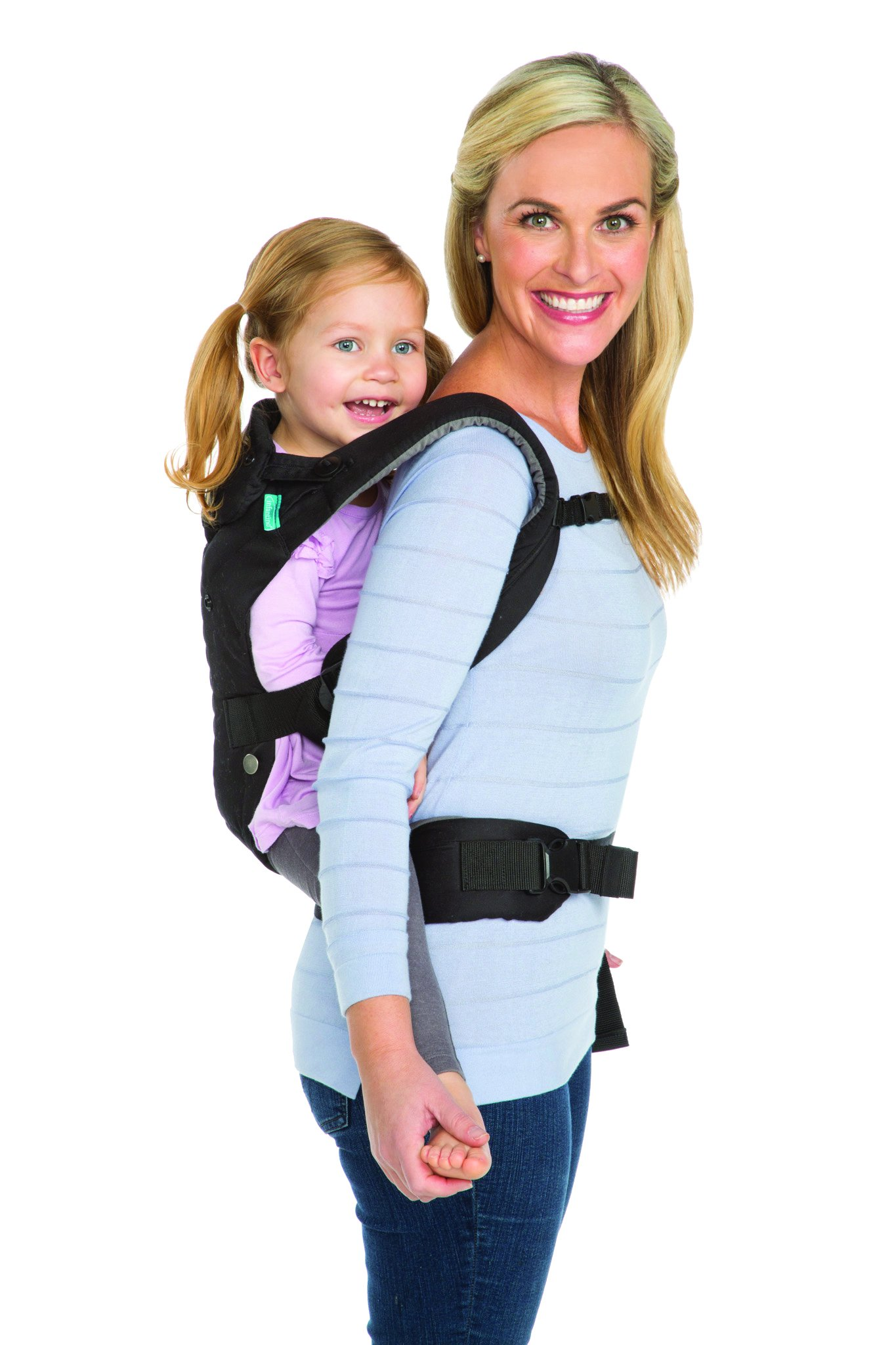 Infantino Upscale Carrier, Black, One Size Infantino Fully safety tested 4 way carrier Facing in newborn & m position 11