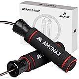 Amonax Springtouw voor volwassenen, springtouw voor mannen en vrouwen, snelheidstouw voor Crossfit training, thuis fitness ap