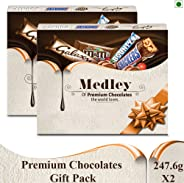 SNICKERS Medley Assorted Chocolates Valentines Day Gift Pack (Snickers, Bounty, M&M's, Galaxy), 247.6g  (Pack of 2)