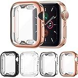 FITA [4 Piezas] Funda Compatible con Apple Watch Series 6/5/4/SE 40MM Protector, Suave TPU Cobertura Completa Protector de Pa