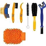 TAGVO Set di spazzole per la Pulizia della Bici, 7 Pezzi, Kit Completo di Pulizia della Bicicletta, per Catena/Pneumatico/pig