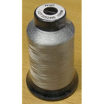 Maschinenstickgarn 1000 m Lurex silber 100 /% Polyester 40er