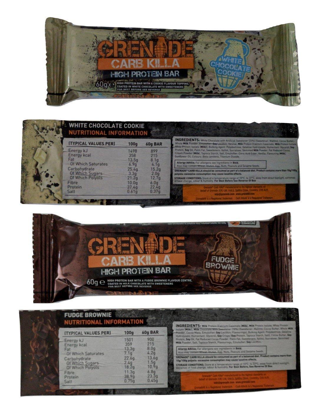 Grenade Carb Killa Protein Bars ALL 11 FLAVOURS 4