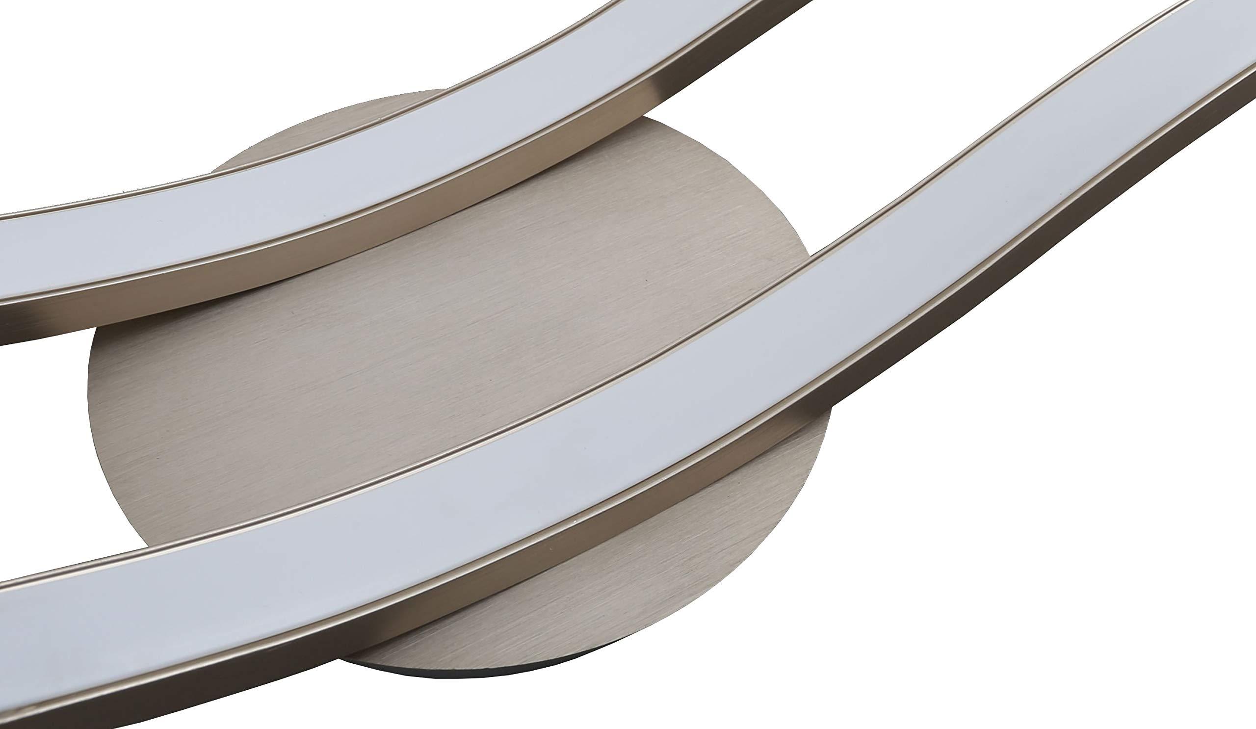 Trango design moderno plafoniera a led applique da bagno