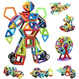 infinitoo Blocs Construction Magnétiques | 109 Pièces Mini Jeux de Construction Magnetique Colorée 3ère-Version | Idéal Cadea