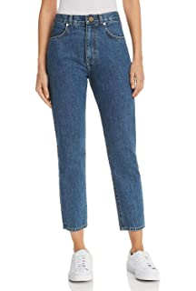 6b628adb8f15 MONYRAY Jeans Taille Haute Femme Boyfriend Jean Mom Slim Fit Pantalon en  Denim - Bleu délavé