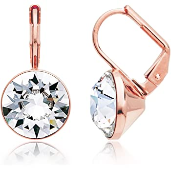 MYJS Bella Rose Gold Plated Mini Drop Earrings with Clear Swarovski Crystals d9736d2d80
