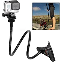 Jaws Flex Clamp Arm Mount with Flexible Gooseneck Long arm Tripod Holder for Gopro Hero 6, 5, 4, 3+, 2 Xiaoyi Sj4000 Sj5000 Action Camera