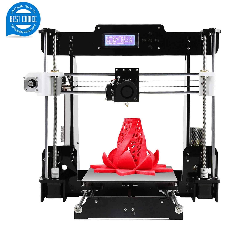Imprimante 3D A8 (Y8) de Bureau DIY Imprimante 3D Auto-assemblable Kit Prusa i3 Imprimantes 3D de Haute précision avec écran LCD Kit 3D imprimante, Tigtak (Taille de la Plateforme 220 * 220 * 240)