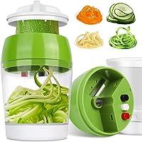 Coupe Légumes Spirale 4 en 1, Spiraliseur de Légumes Spiralizer Legume Trancheuse Mandoline Cuisine, Spiralizer pour…