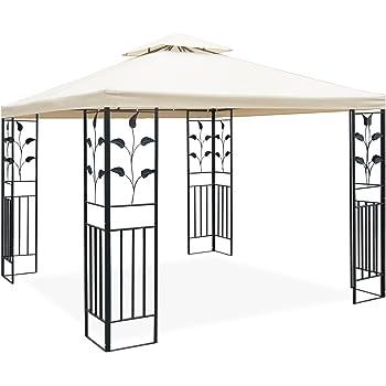 Amazon De Jom Metall Pavillon 3 X 3 M Mit Schmiedeeisen Ornamenten