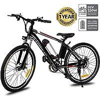"""Oppikle Vélo Electrique 26"""" E-Bike - VTT Pliant 36V 250W Batterie au Lithium de Grande Capacité - Ville léger Vélo de avec moyeu 21 Vitesses"""