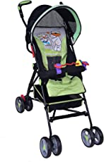 PA Toys Kids Pram-Stroller Green for Baby boy, Baby Girl and Unisex (Color May Very)