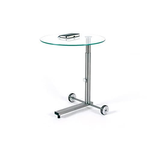 Beistelltisch glas höhenverstellbar  Ebinger Couch- und Beistelltisch in Edelstahl höhenverstellbar und ...