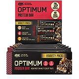 Optimum Nutrition Protein Bar 10 Barrette Proteiche con Proteine Whey Isolate in Polvere, Gusti Misti 3 Gusti, Scatola di 7 x