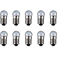 GOOBAY Lot de 10 Ampoules Torch Lamp Globular Culot E10 2.35 W 6 V (DC) 400 mA