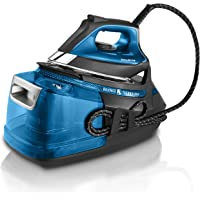 Rowenta Silence Steam Pro 2800W 1.3L Microsteam 400 soleplate, 7.5 bar, 480 g/min, Nero/Blu