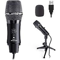 MYDASH USB Mikrofon PC Microphone mit Ständer, Kondensatormikrofon für Gaming, Aufnahme, Podcast, Streaming, Voice Overs…