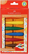 Faber-Castell Kindergarten Grip Crayons - Pack of 6 (Assorted)