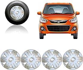 Premium Quality Car Full Caps Silver 12inches Wheel Cover For - Maruti Suzuki Alto K10