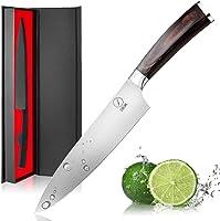 DEIK Cuchillo Chef, Cuchillo de Cocina de 20cm de Acero Inoxidable Importado 1.4116, Balanza de Grado Profesional y...