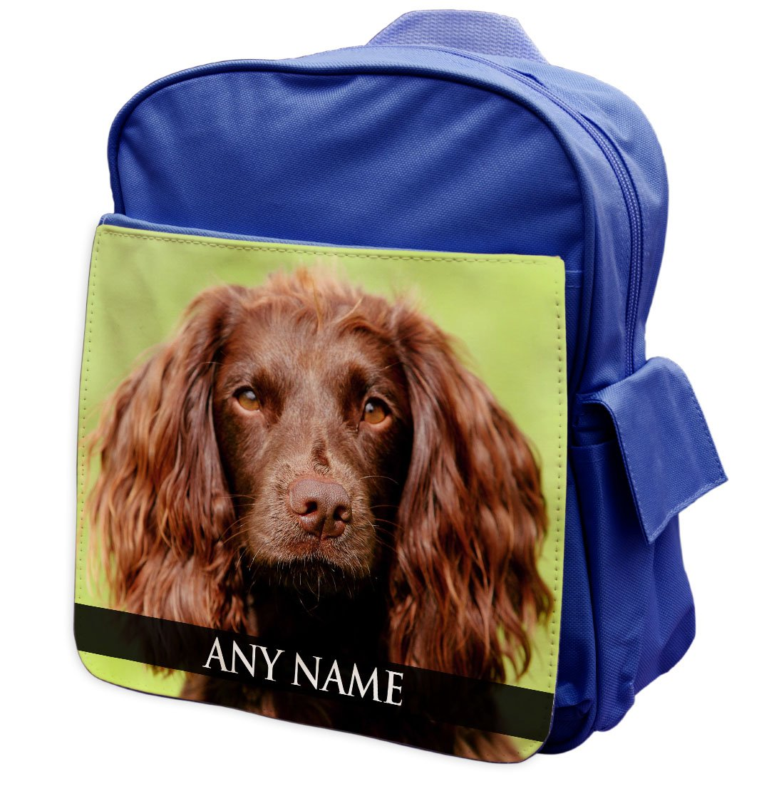 Personalised Field Spaniel Dog Animal BLUE Rucksack Backpack 118
