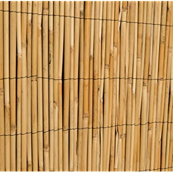 Thick Reed Bamboo Style Natural Garden Fence Screening Roll Privacy Border  Wind U0026 Sun Protection 4.0