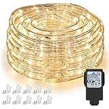 Nurkoo 10 m led-lichtslang, 240 leds, IP65 waterdicht, lichtketting, werkt op stroom met 7,2 W EU-stekker voor binnen en buit