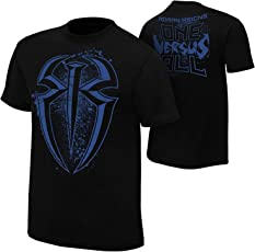 Star Footware Black Cotton Half Sleeve WWE Tshirt for Men Roman Reigns(WWE Tshirt for Men_Roman Reigns t Shirt)