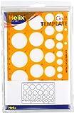 Helix Circle Stencil Template, Translucent Orange