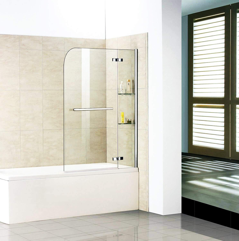 Badewannenaufsatz Duschabtrennung Badewannenfaltwand für ...