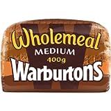 Warburtons Wholemeal Medium Sliced 400 g