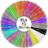 3D Stift Filament, Filament 1.75 Pla, 3D Stifte Glühfaden PLA für 3D Stiften und Druckern 20 Farben Zufällige, je 1,75mm…