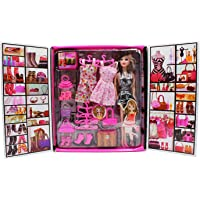 JVM Girl Doll and Her Personal Style Wardrobe Set Toy for Kids Girl's Fashion Stylish Dresses and Accessories