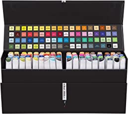 Bianyo Dual Tip Art Markers Permanent Sketch Drawing Pens Set, 72 Colours (AR1788)