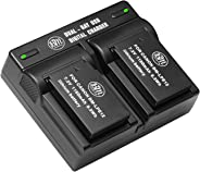 BM Premium 2-Pack of LP-E12 Batteries and USB Dual Battery Charger for Canon SX70 HS, Rebel SL1, EOS-M, EOS M2, EOS M10, EOS
