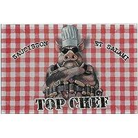 """Planche à Découper Originale en Verre """"Top Chef"""" HUMOUR - Idée Cadeau"""