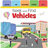Seek and Find - Vehicles: Early Learning Board Books with Tabs