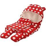 BRANDONN Newborn Baby Blanket Cum Envelope Jumpin Baby Wrapper Sleeping Bag Cum Car Carry Bag with Hood Cap Polka…
