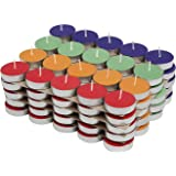 Fitg18® Wax Tealight Candles, Votive Candles, Decoration (Set of 100 & 50)