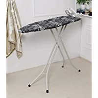 Classy 'N' Cozy International Quality Ironing Board/Iron Table Stand with Press Holder, Foldable & Height Adjustable/Ironing Board with Multi-Function Ironing Table (BLACK)