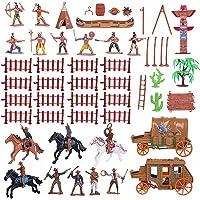 STOBOK Cowboys Et Indiens Coffret de Jeu Figurines en Plastique Cowboys du Far West Et Modèles Indiens pour Décoration…